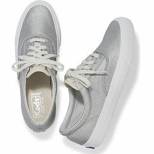 KEDS Anchor Matte Brushed Metallic Silver Sneaker